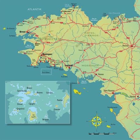 Die Karte zu »Bretonische Brandung«