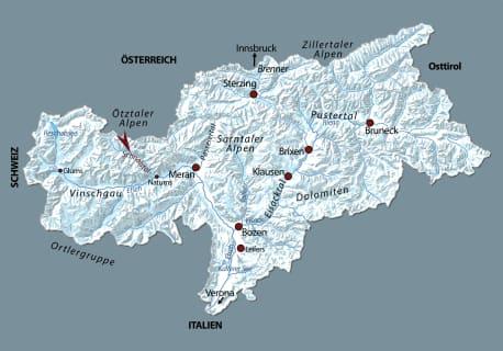 Die Karten zu »Der Tote am Gletscher«