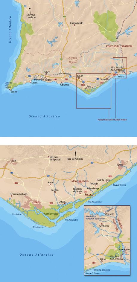 Die Karten zu »Lost in Fuseta«