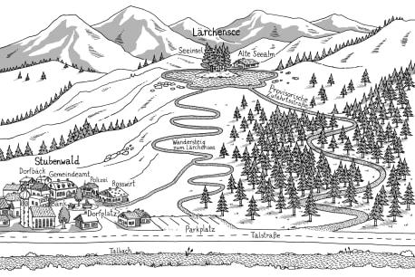 Die Karte zu »Die Toten vom Lärchensee«