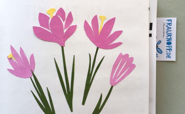 Paper cut Blumen von Inga Knopp-Kilpert