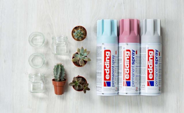 Materialien für DIY Mini-Blumentöpfe