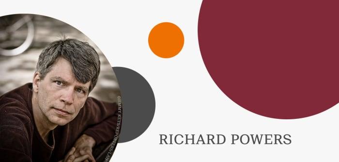 Grafik mit Autorenfoto von Richard Powers