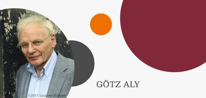 Grafik mit Autorenfoto von Götz Aly
