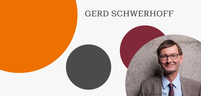Grafik mit Autorenfoto von Gerd Schwerhoff