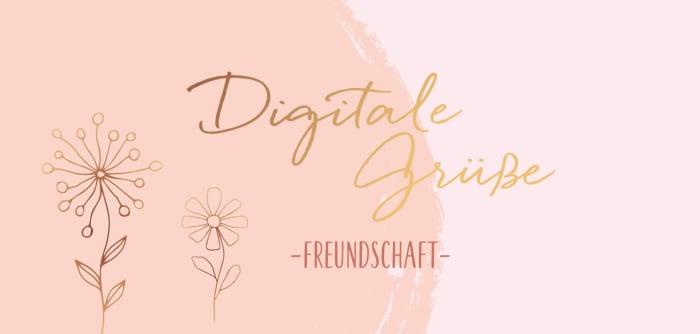 Digitale Grüße Freundschaft