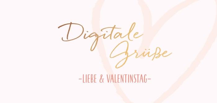 Digitale Grüße Liebe und Valentinstag