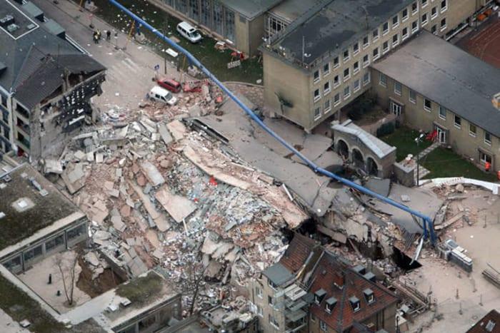 Das eingestürzte Historische Archiv, März 2009