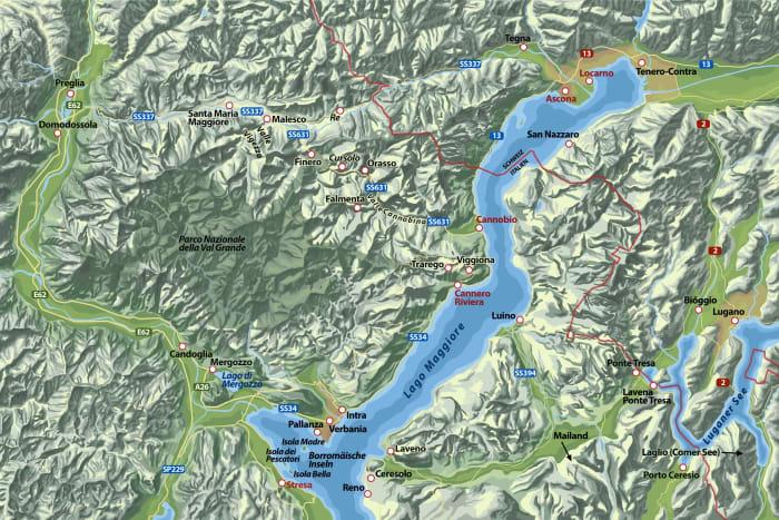 Karte zu »Wenn es Nacht wird am Lago Maggiore«