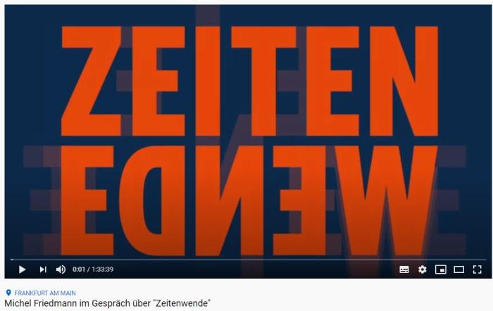 """Michel Friedmann im Gespräch über """"Zeitenwende"""""""