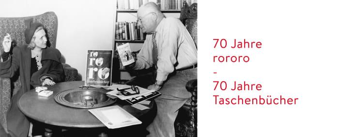Banner 70 Jahre rororo Taschenbuch
