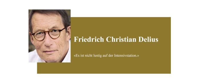 Banner zum Coronabeitrag von Friedrich Christian Delius