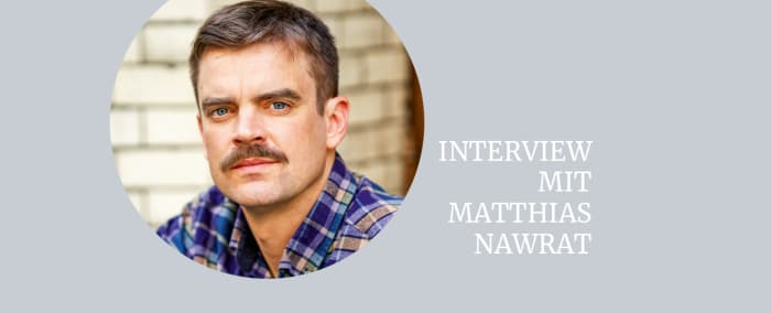 Autorenfoto Matthias Nawrat mit Text «Interview mit Matthias Nawrat»