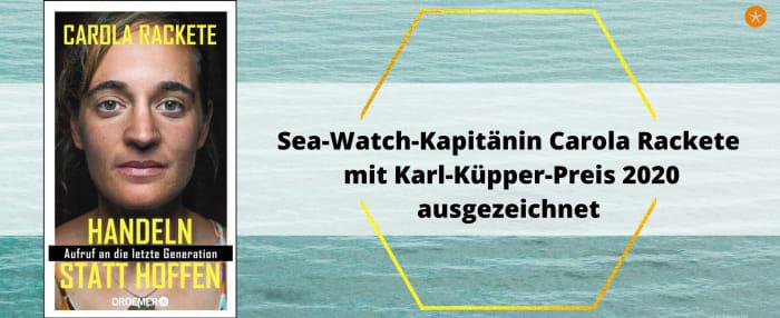 Menschenrechtsaktivistin Carola Rackete mit Karl-Küpper-Preis ausgezeichnet