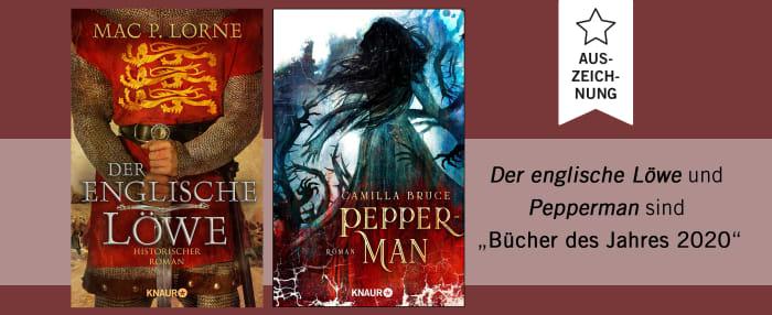 Auszeichnung Der englische Löwe und Pepper-Man als Bücher des Jahres 2020