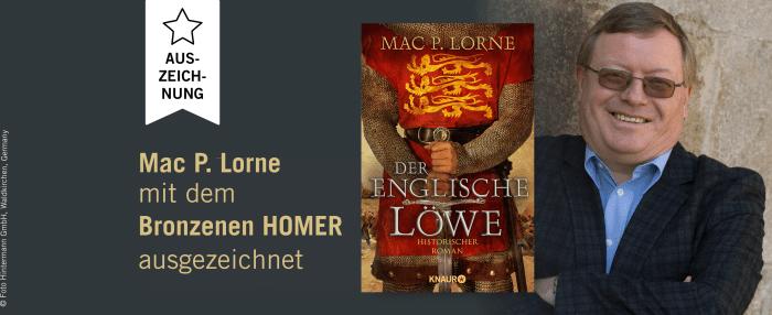 Mac P. Lorne mit dem Bronzenen Homer ausgezeichnet