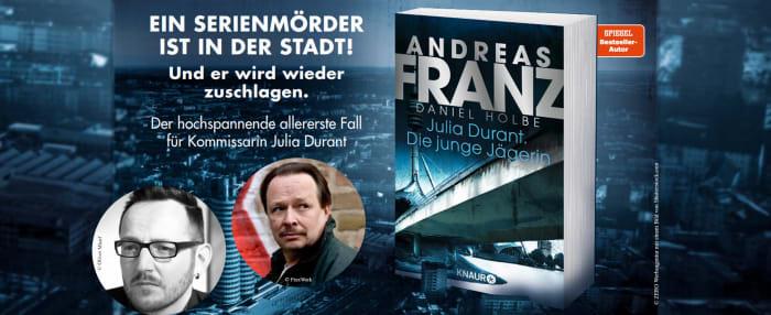 Das Buch von Andreas Franz / Daniel Holbe: Julia Durant. Die junge Jägerin mit Fotos der Autoren