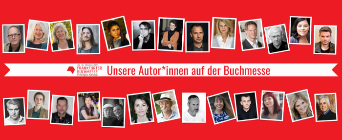 Unsere Autor*innen auf der Frankfurter Buchmesse