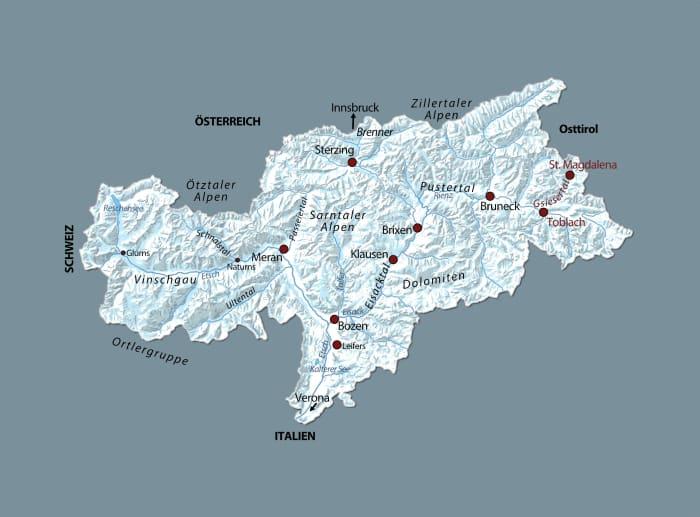 Karte Koppelstätter