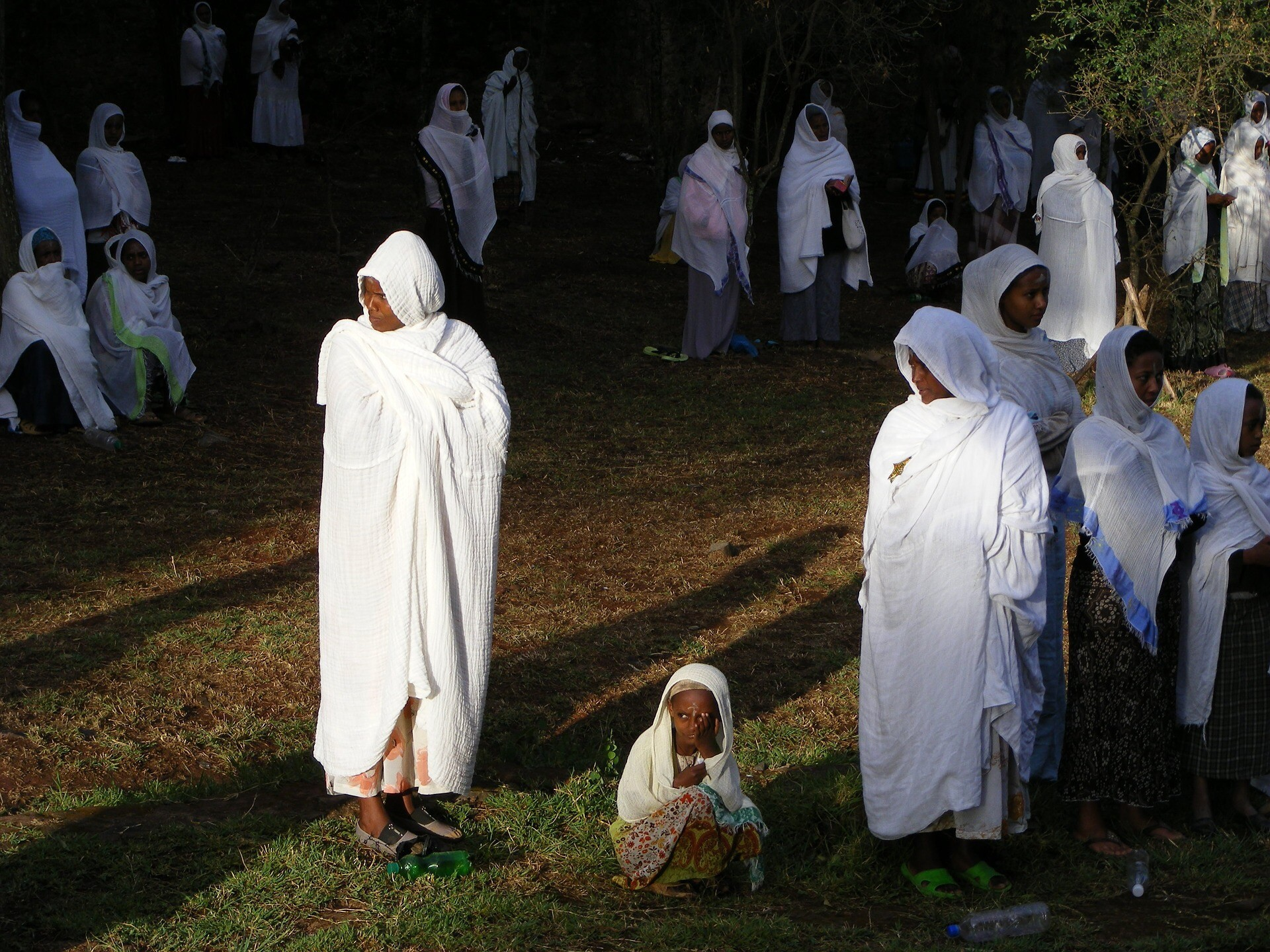 IMG: Ethiopian Jews.  Ethiopian Christians also look the same as these.