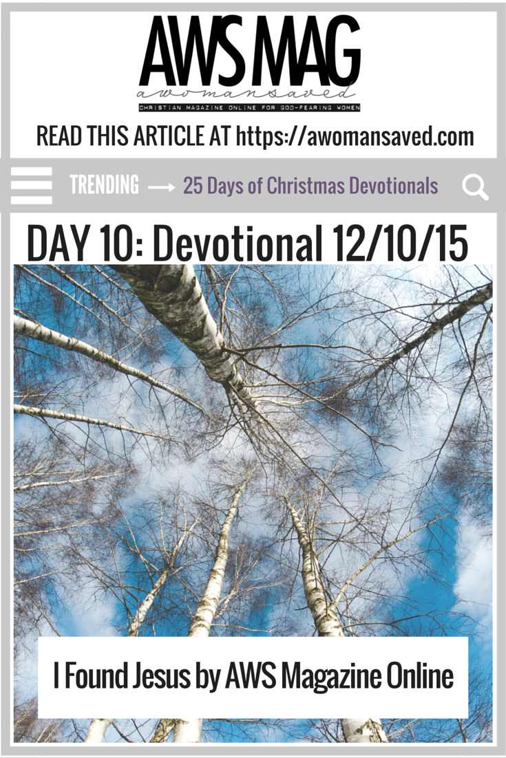 25 Days of Christmas Devotionals Day 10