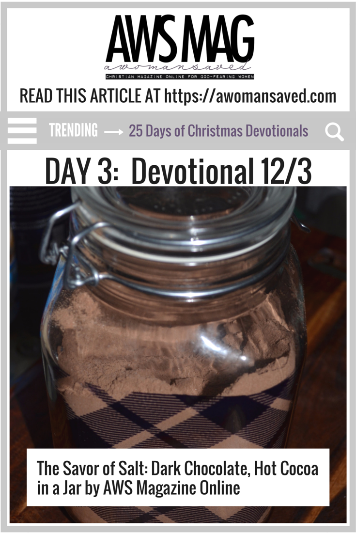 25 Days of Christmas Christian Devotionals Dark Chocolate, Hot Cocoa