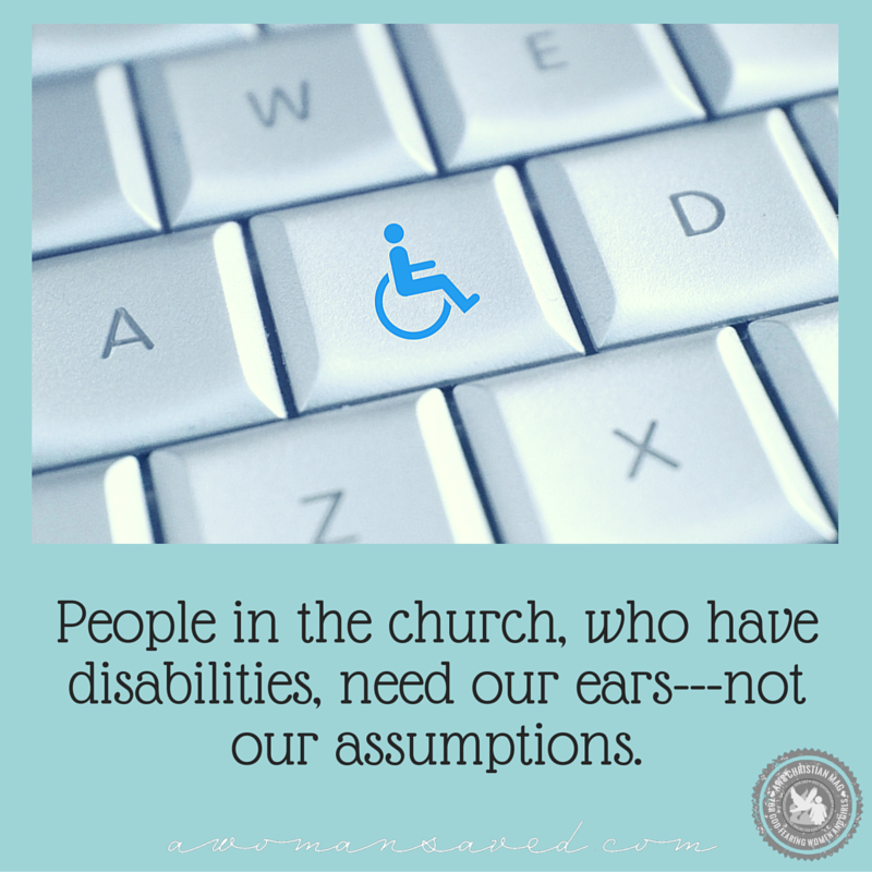 How to bless the disabled in the church.
