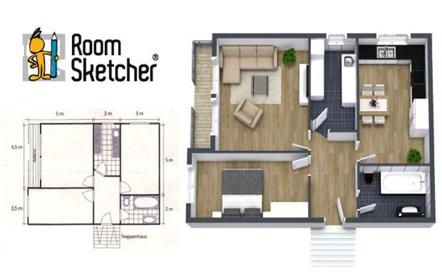 RoomSketcher lets users draw out room designs in 2D online