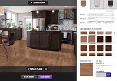Roomstyler is an easy-to-use online 3D layout software choice with a kitchen area component too.