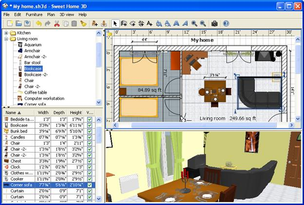Sweet Home is a 2D and 3D modeling software