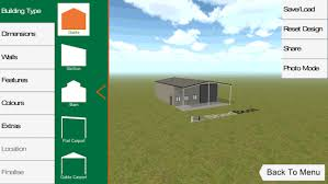 ●	To start with, just click on the button that shows you intend to start developing a shed. It will then take you to the app's fundamental user interface.