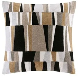 The second layer center Throw Pillow is a small scale pattern 20 inch
