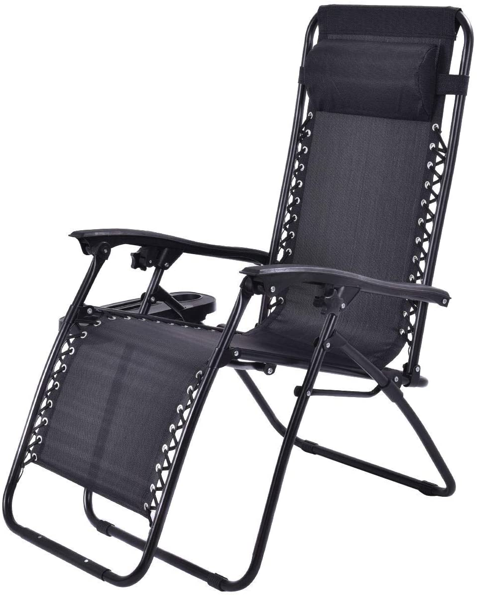Best Lounge Chair: 2 pcs Folding Lounge Chair with Zero Gravit