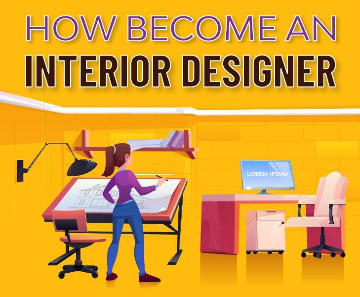 How Become A Interior Designer Infographic Header