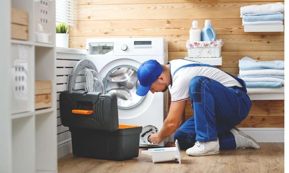 repair a broken Door Hinge in a Washing Machine