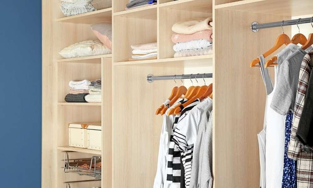 clothing closet storage