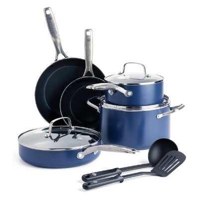 Blue Diamond Toxin Free Ceramic Nonstick Cookware Set