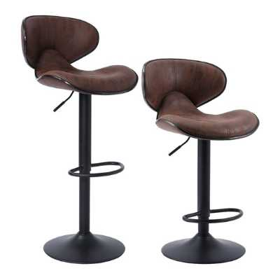 Adjustable swivel bar stools with backs