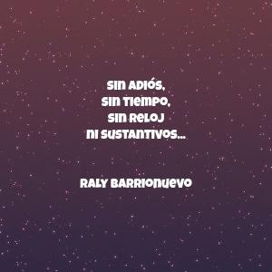 sin adiós, sin tiempo, sin reloj ni sustantivos... Raly Barrionuevo