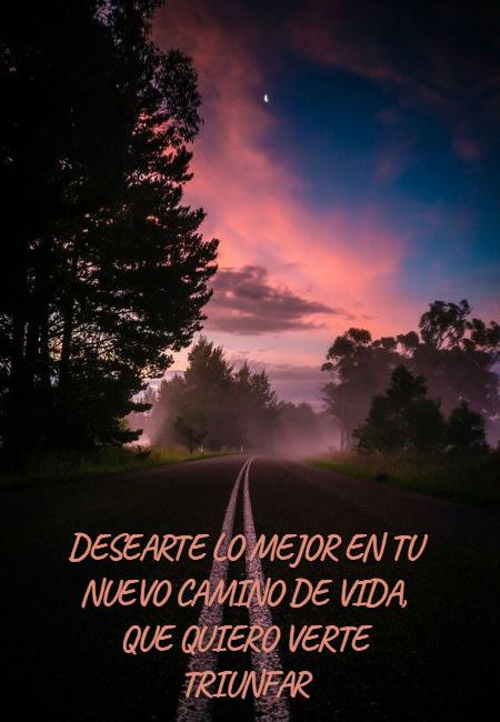Frases de Amistad - desearte lo mejor en tu nuevo camino de vida, que quiero verte triunfar