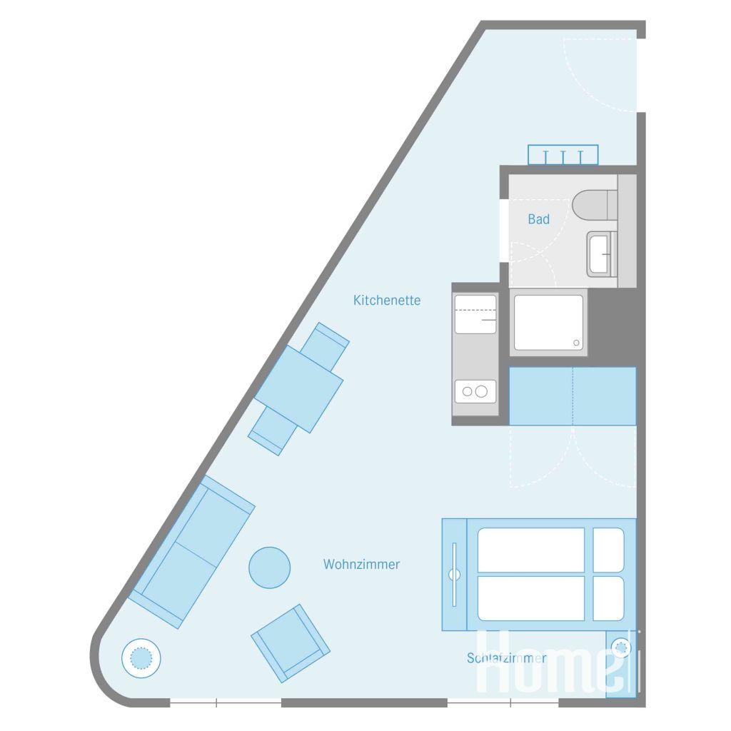 image 8 furnished 1 bedroom Apartment for rent in Karlshorst, Lichtenberg