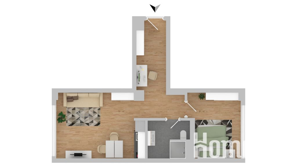 image 9 furnished 1 bedroom Apartment for rent in Hamm Center, Mitte Hamburg