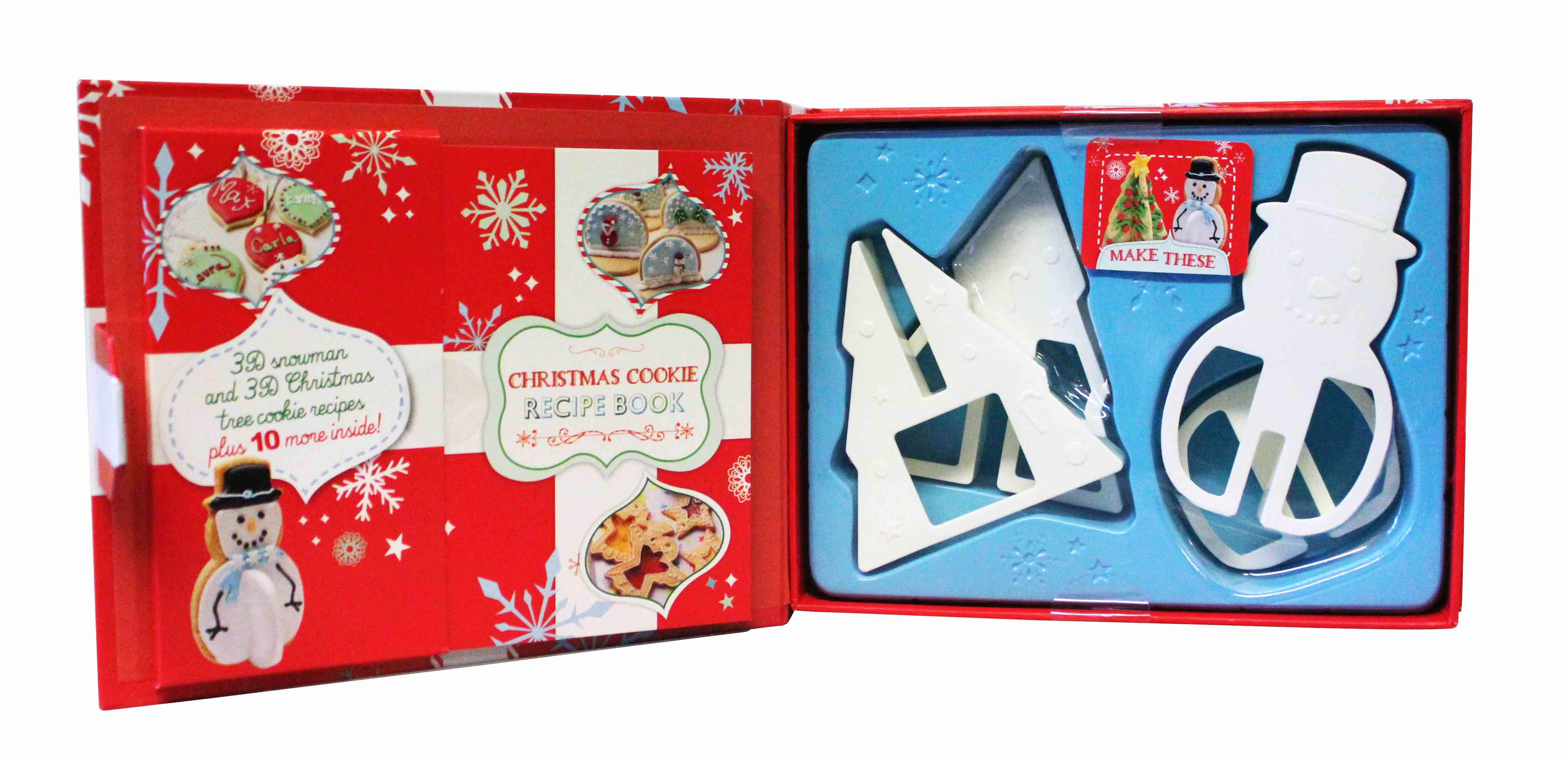 Biscotti Albero Di Natale 3d.Dettagli Su The Love Food Albero Natale Pupazzo Neve 3d Stampino Biscotto Libro Ricette