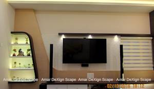 TV Unit: translation missing: in.style.living-room.minimalist Living room by Amar DeXign Scape