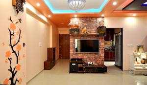 Hennur, Banaglore Project: Modern Living room by Kriyartive Interior Design