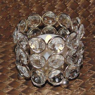 Round Crystal Tealight Holder/   Holiday Gifts : Homewares by M4design