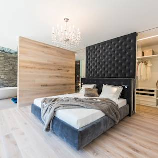 moderne schlafzimmer ideen inspiration homify. Black Bedroom Furniture Sets. Home Design Ideas