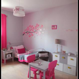Chambre d enfant id es inspiration photos homify for Chambre fushia orange