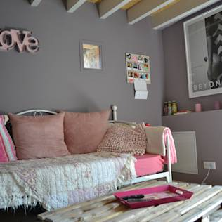 inspiration chambre fille industrielle. Black Bedroom Furniture Sets. Home Design Ideas