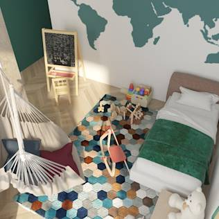 Scandinavian style nursery/kids room by ROOMDESIGNBÜRO